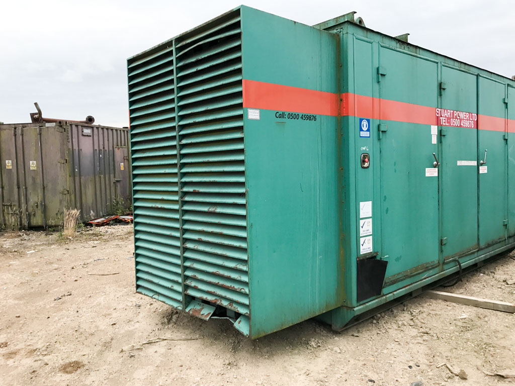 Green 750kVA 4 door generator enclosure