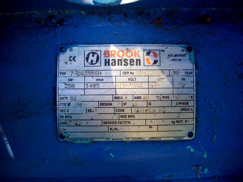 Brook Hansen Electric Motor - 250kW