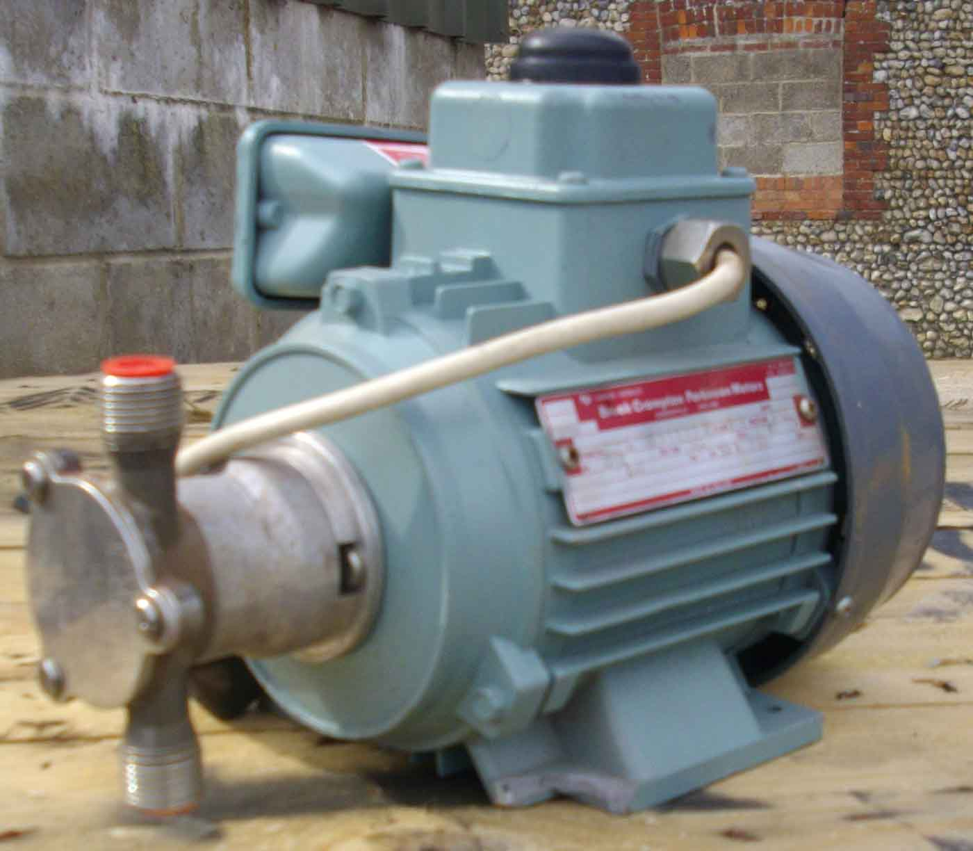 Stainless Steel Flexible Impeller Pump