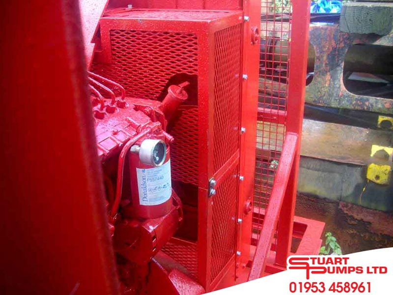 "Vtg Sign Fire Extinguisher Industrial Factory Flange Unused 12/"" Metal Doubleside"